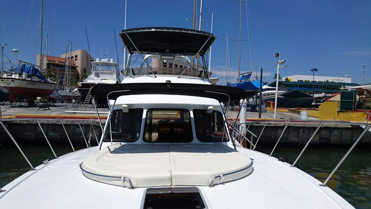 44-FT-Pacifica-Fishing-Yacht-Ample-wide-open-Bow-with-shade