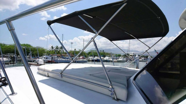 44-FT-Pacifica-Fishing-Yacht-Cushions-Shade-over-Bow