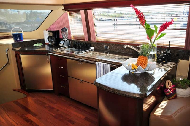 60 ft. Sea Ray - Luxury Power Yacht - Affordable-Light-view-from-an-open-plan-full-equipped-kitchen