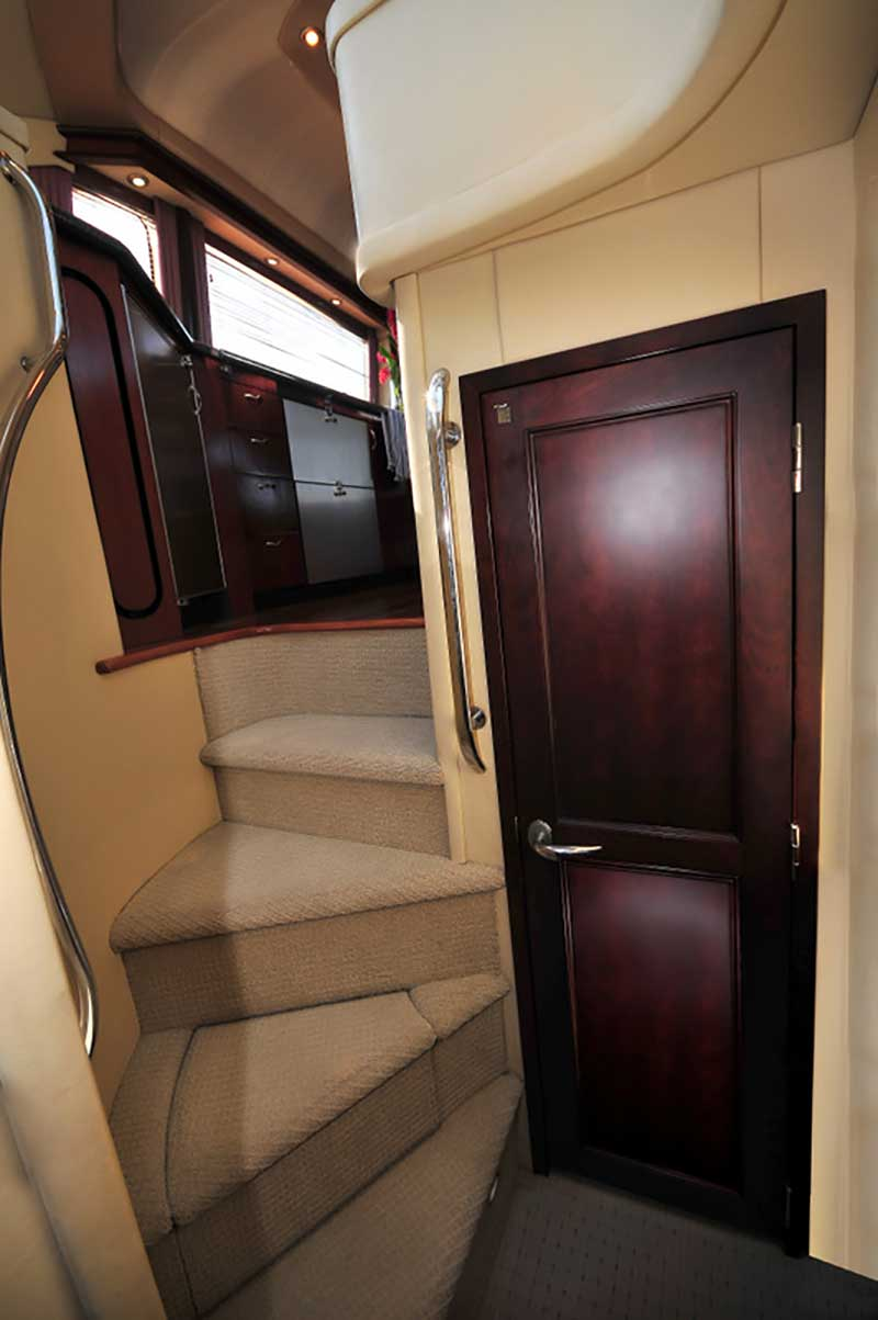 60 ft. Sea Ray - Luxury Power Yacht -Nicely-upholstered-stairs-to-upper-Salon-Galley